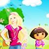 لعبة باربي و دورا مغامرات بنات